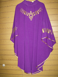 CLEARANCE-200703 PURPLE CHASUBLE