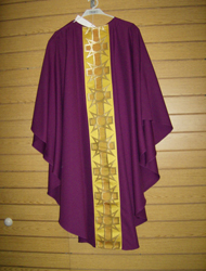 CLEARANCE-5059 PURPLE CHASUBLE