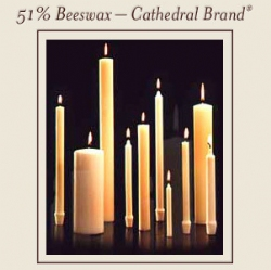 LONG BURNING 51% BEESWAX CANDLES - 7/8