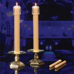 TABLE ALTAR 51% BEESWAX CANDLES - 2