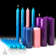CANDLES, ADVENT-CHURCH SETS