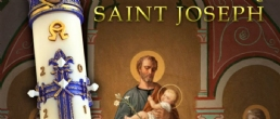 EXCLUSIVE YEAR OF ST.JOSEPH LILIUM PASCHAL CANDLE